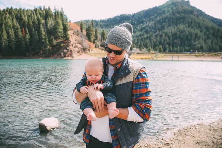 Dad and baby at the lake