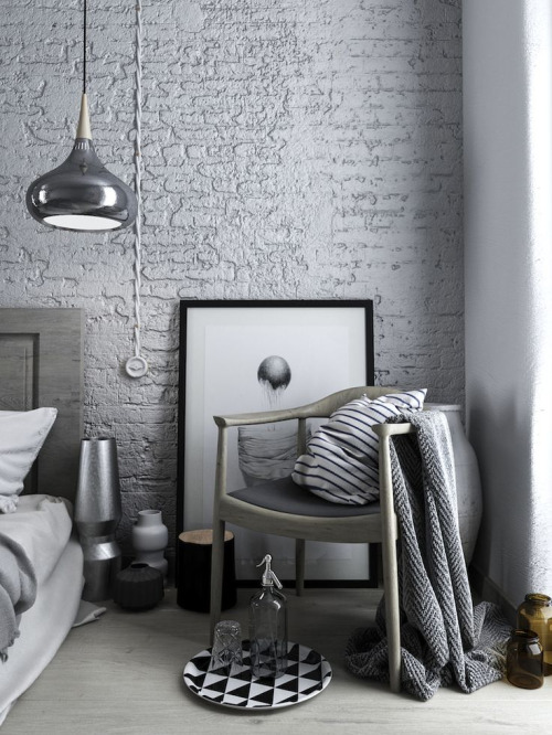 home inspiration, black white and grey
