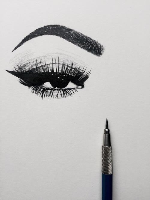 beautiful eye illustration, selv