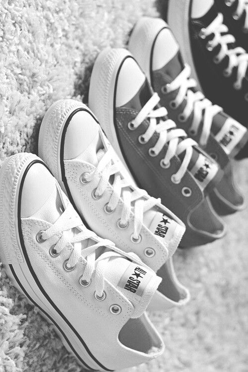 white, grey, black, converse