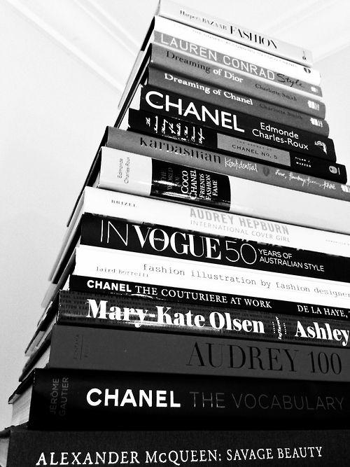 fashion books, chanel, black, white