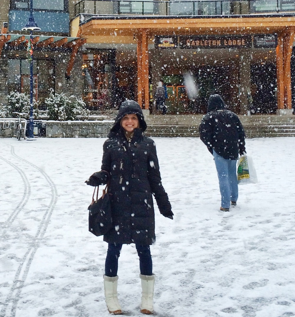 Snow in Whistler Village