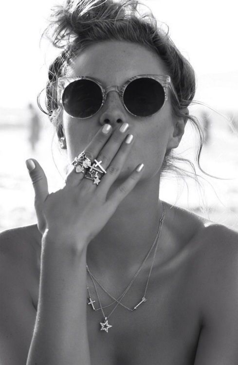 Rings and sunglasses