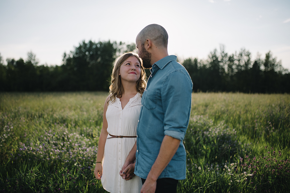 Engaged couple, field,  Engagement Photographer in St. Albert, Jessica Leanne