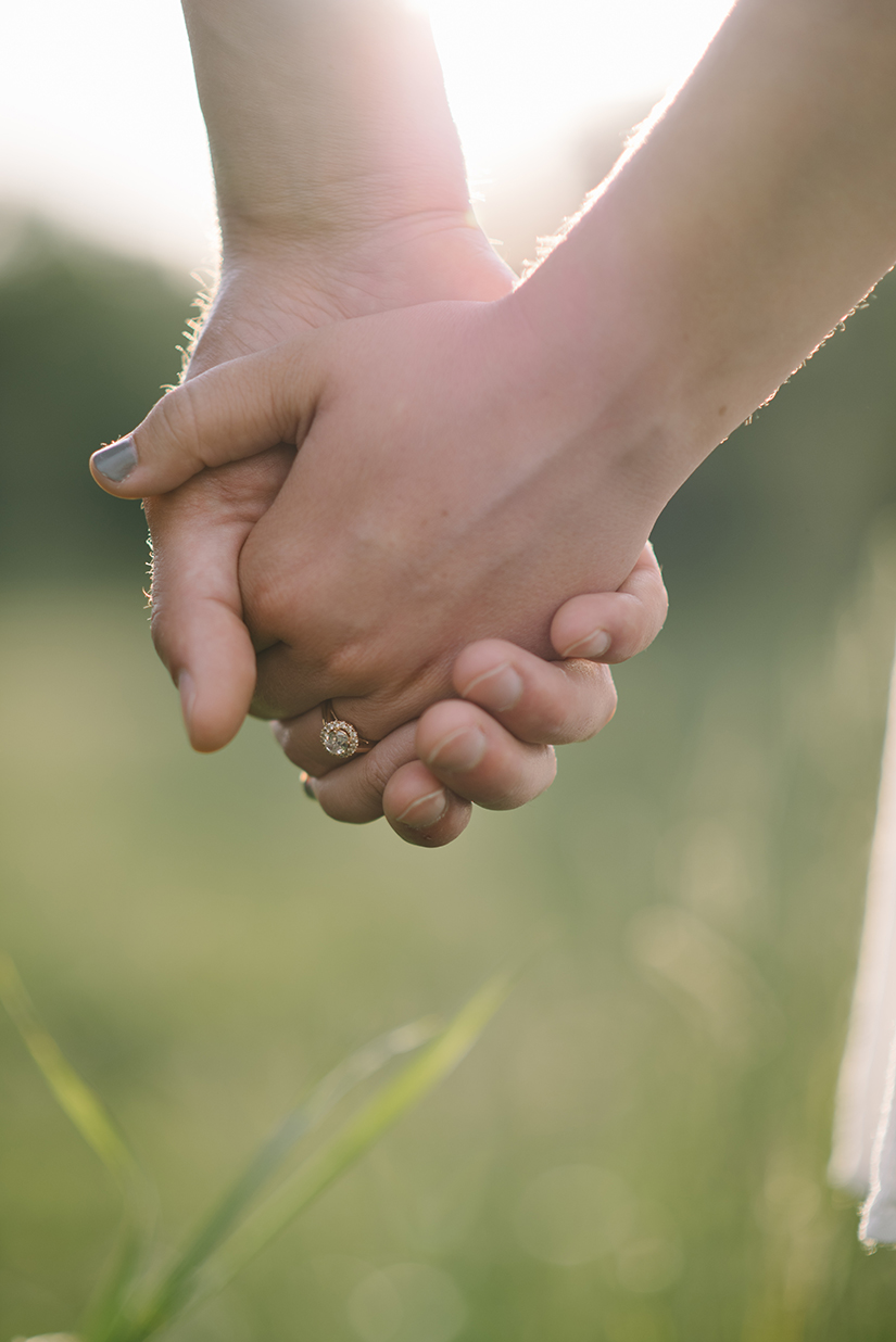 Hand in hand, rose gold engagement ring, Jessica Leanne Photography