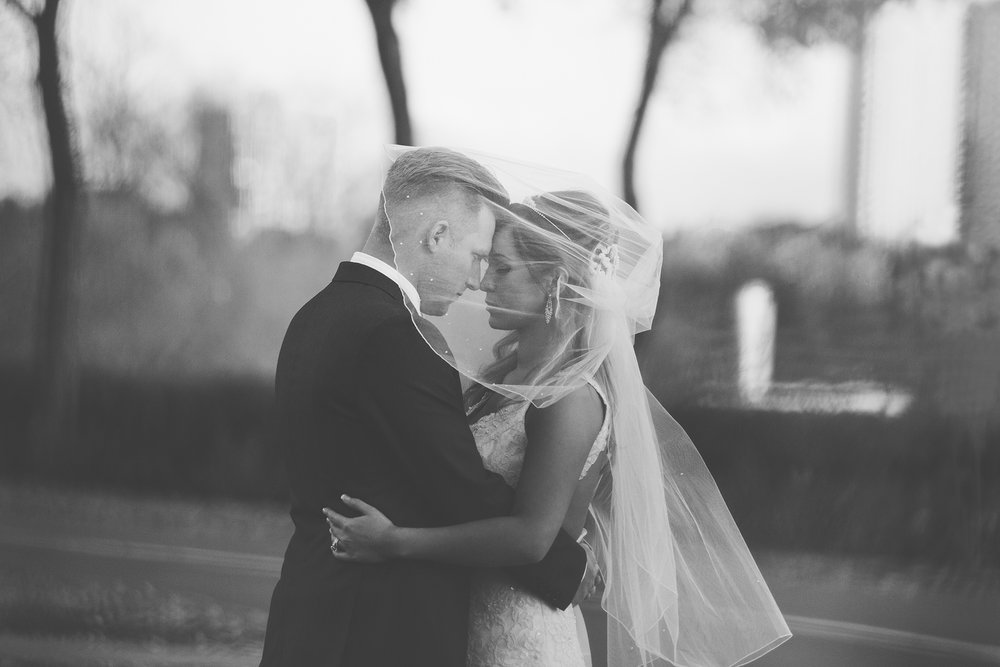 black and white emotive bride and groom portrait, Jessica Leanne Photography