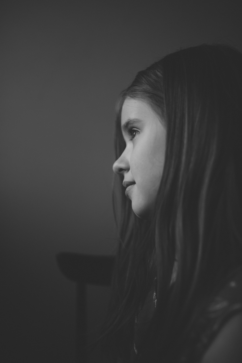 project 52, black and white photograph of a girl, Jessica Leanne Photography