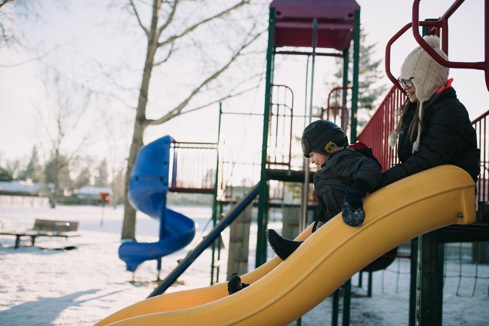 Playground slide, lifestyle photography