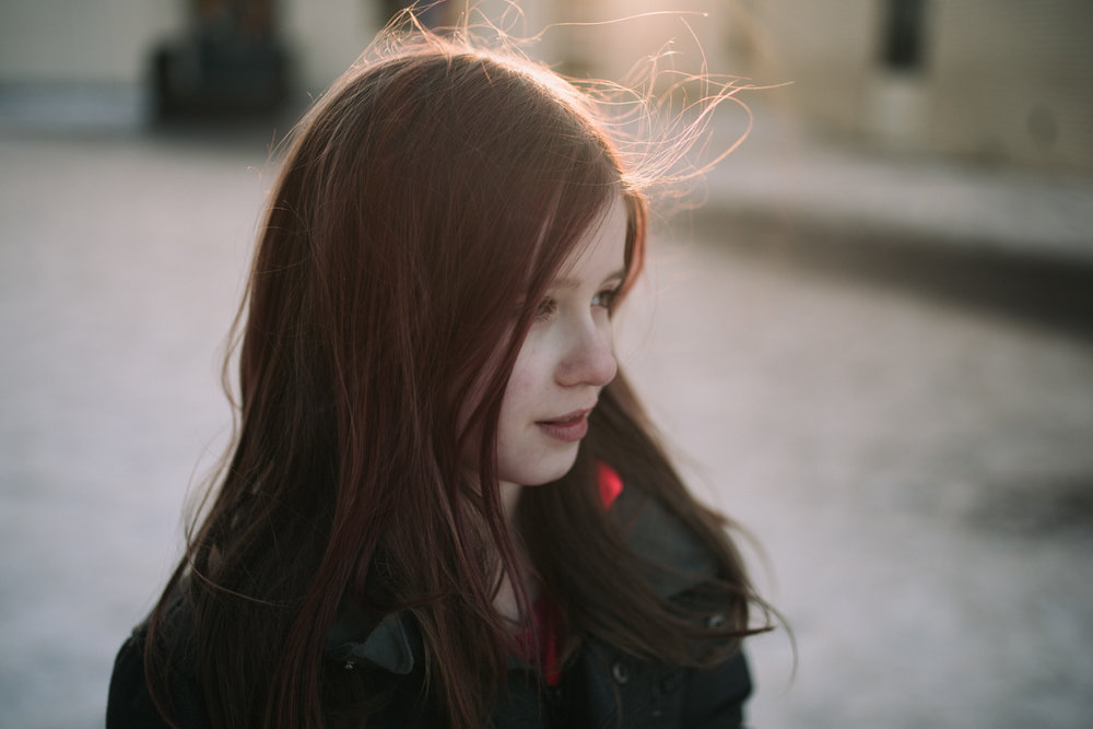 pink hair, Edmonton Portrait photography, 52 project