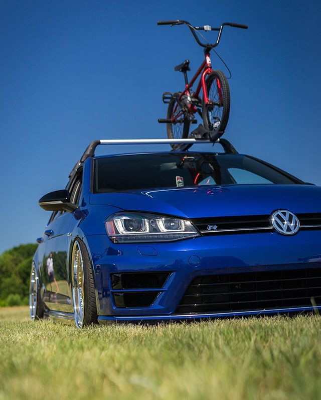 Perfection! BMX and VW's go so well together, especially if that VW is a MkVII Golf R! @vw @eurohangar  #therealswiper #vw #golfr #mk7r #wci