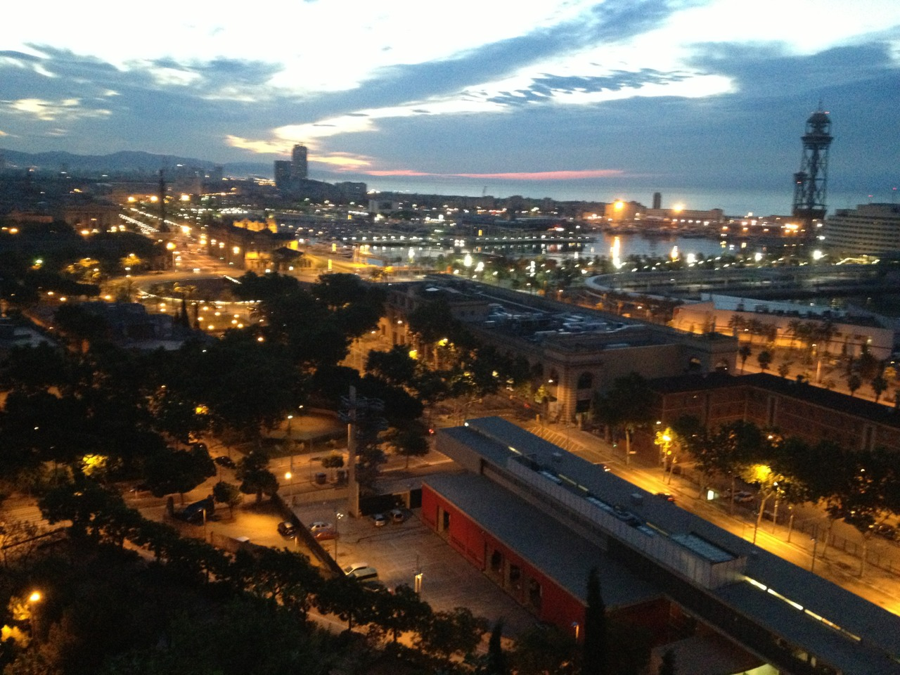 Dawn over Barcelona. 9th June 6.00am.