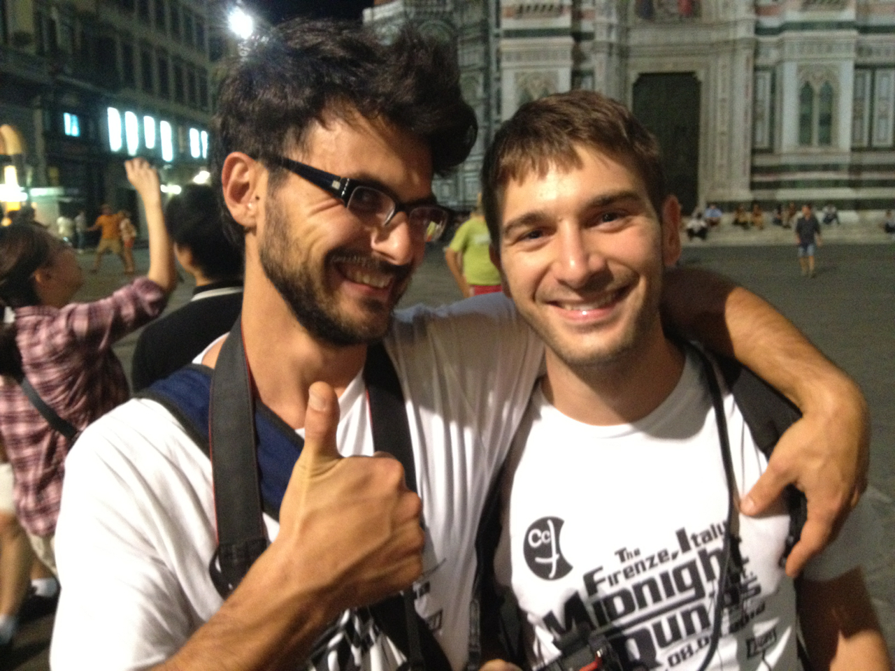 The two Guidos! MidnightRun Florence.