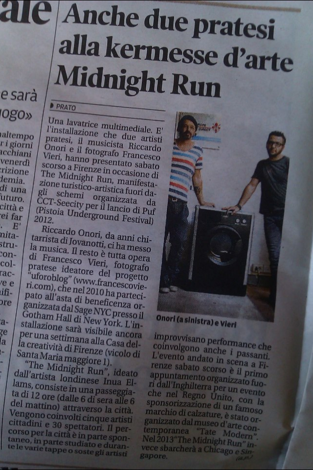 We made the Italian Newspapers! #midnightrun