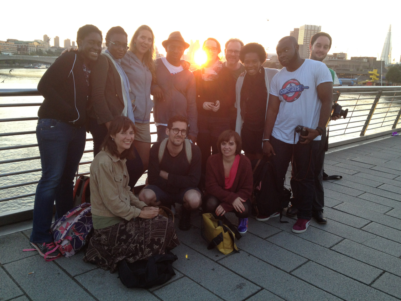 The Midnight Runners early this morning at sunrise on Hungerford Bridge.