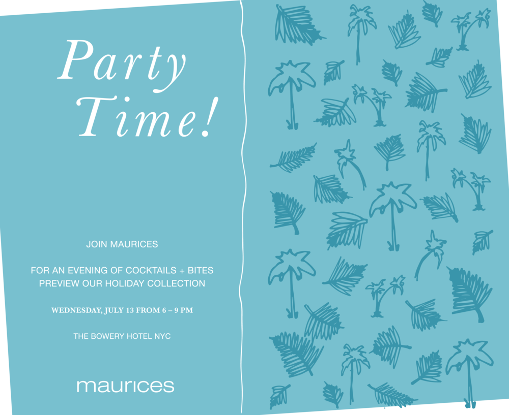MAURICE'S COLLECTION INVITE