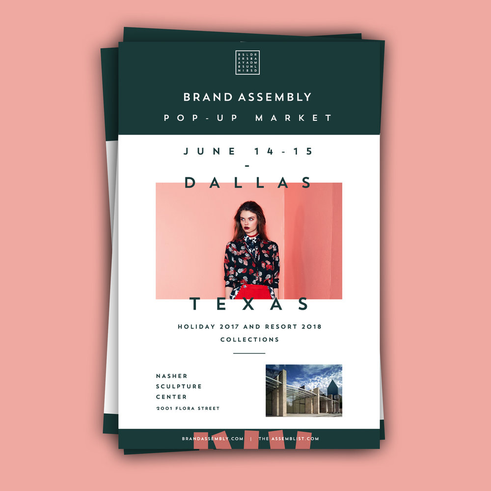 BRAND ASSEMBLY - DALLAS EVENT POSTCARDS