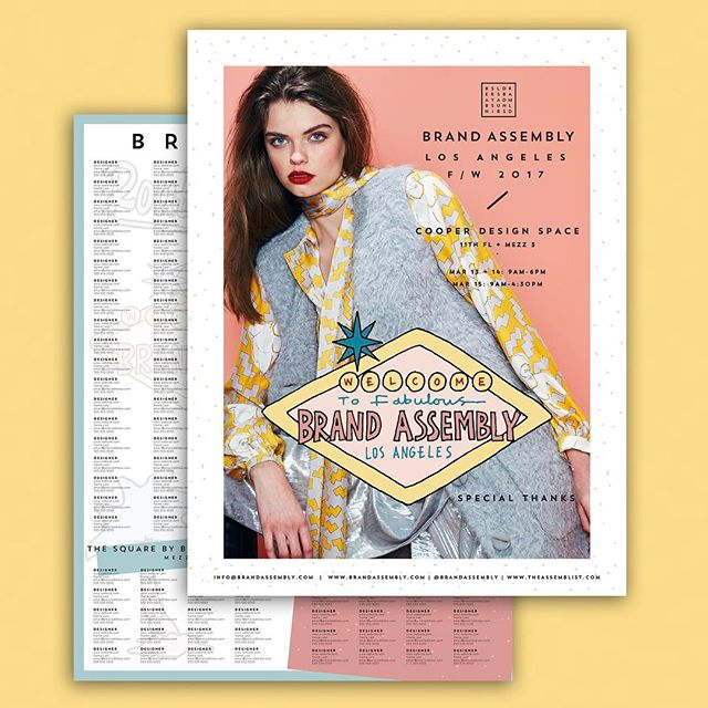 Show Guide for @brandassembly with illustrations by @chrisarundel ✨🙌🏼 -