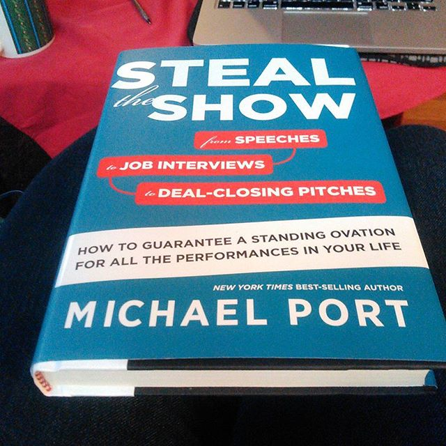 Can't wait to get back to leisure reading! I'll be cozying up with this baby from Michael Port. #stealtheshow #trailblazer