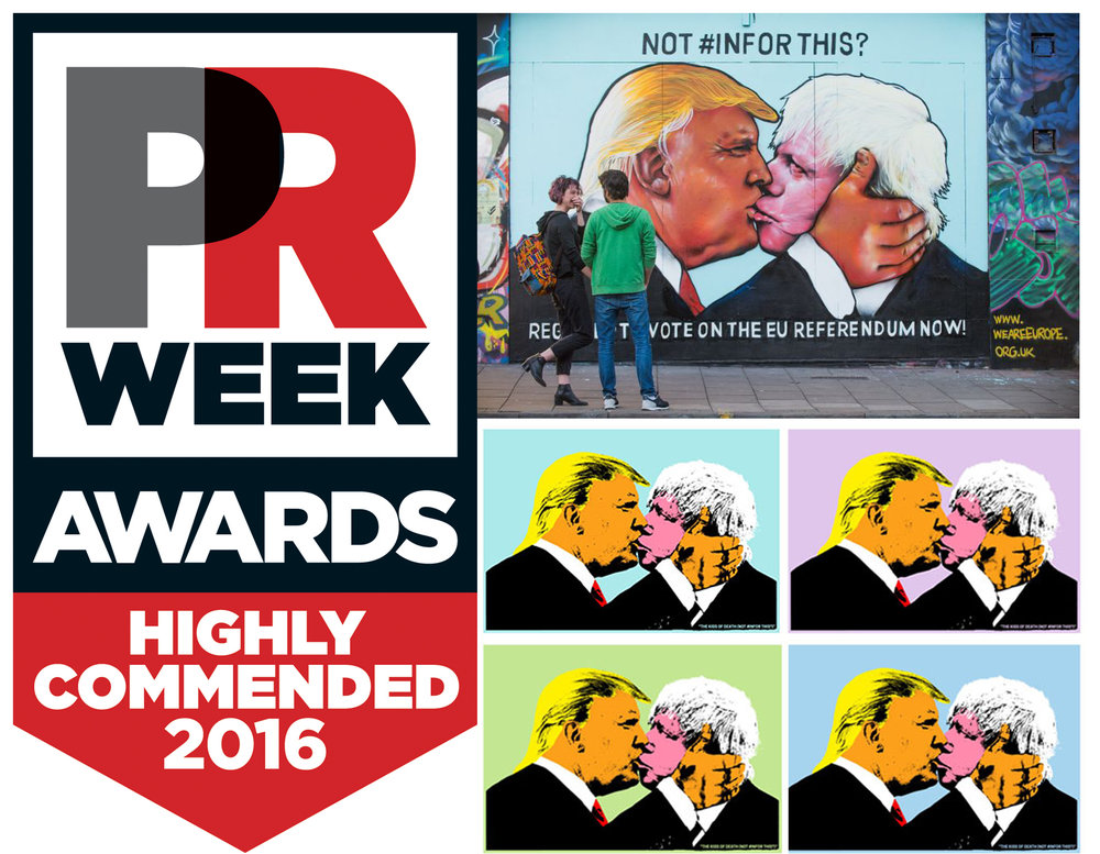 PR Week Awards. Highly Commended campaign for We Are Europe