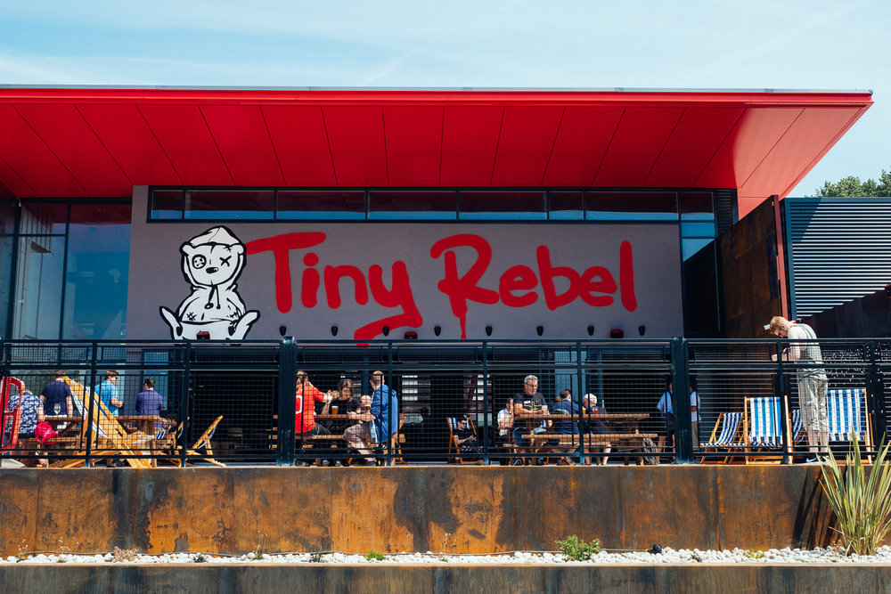 Tiny Rebel Signage