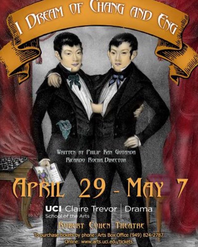 """You won't want to miss UCI Drama's Production of """"I Dream of Chang and Eng""""! The show runs from April 39th-May7th and tickets are available online! #UCIDrama #AnteaterTV #UCI 🎼💃🏽"""
