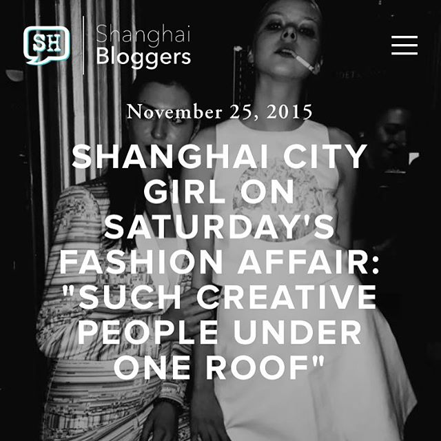 Shanghai Bloggers App @jadeinewhiteside Fashion Affair. Now on Shanghaibloggers.com and on the Shanghai Bloggers App👈🏻