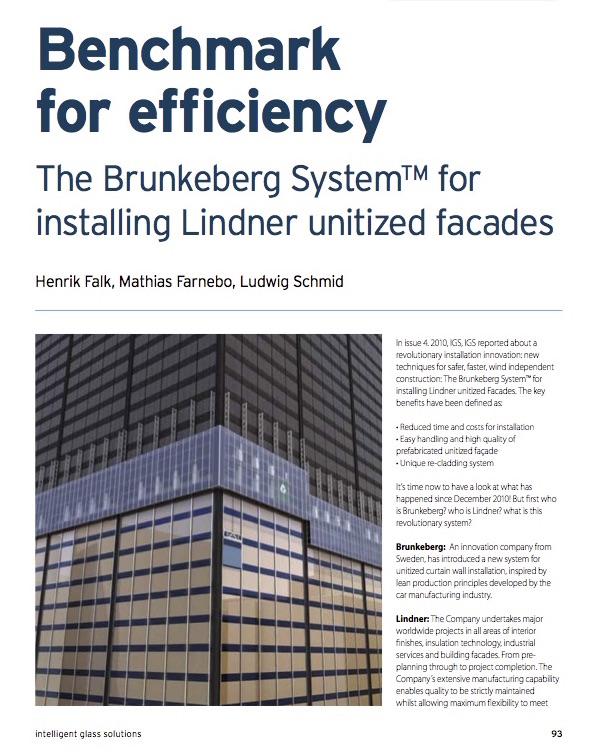 Brunkeberg Article in Intelligent Glass solutions December 2012