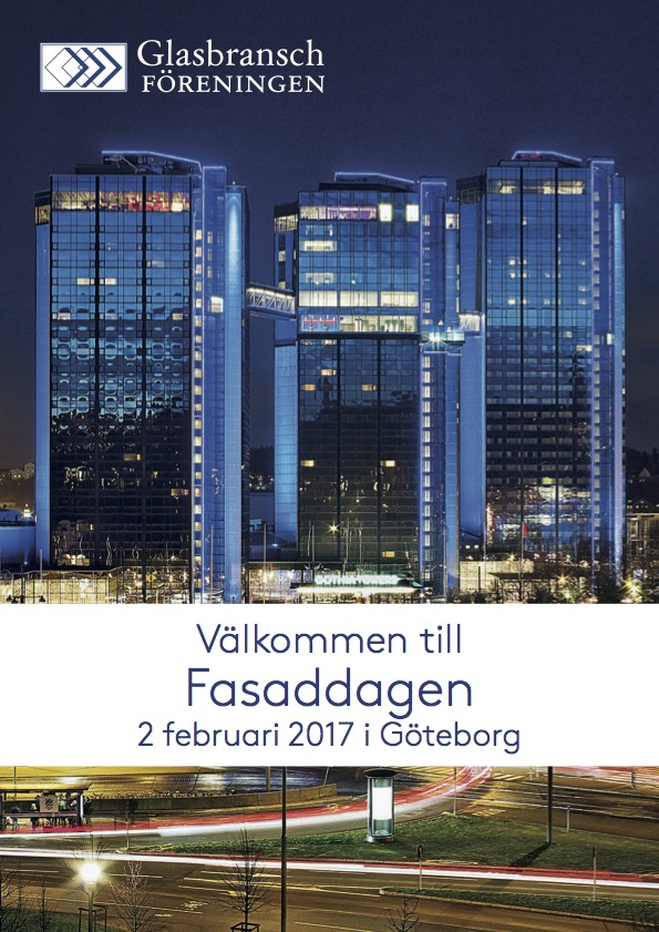 Gohtia Towers, Gothenburg Sweden, 2 February   Henrik Andersson, Technical director at Brunkeberg will do a presentation on the latest local and international Curtain Wall codes and standards at the yearly Facade event held by GBF, The Swedish Federation of Glazing Contractors.   L  INK TO THE EVENT