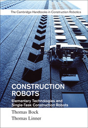 CONSTRUCTION ROBOTS, Elementary Technologies and Single-Task Construction Robots 2017 , Cambridge University by Press Prof. Bock and Dr Linner.