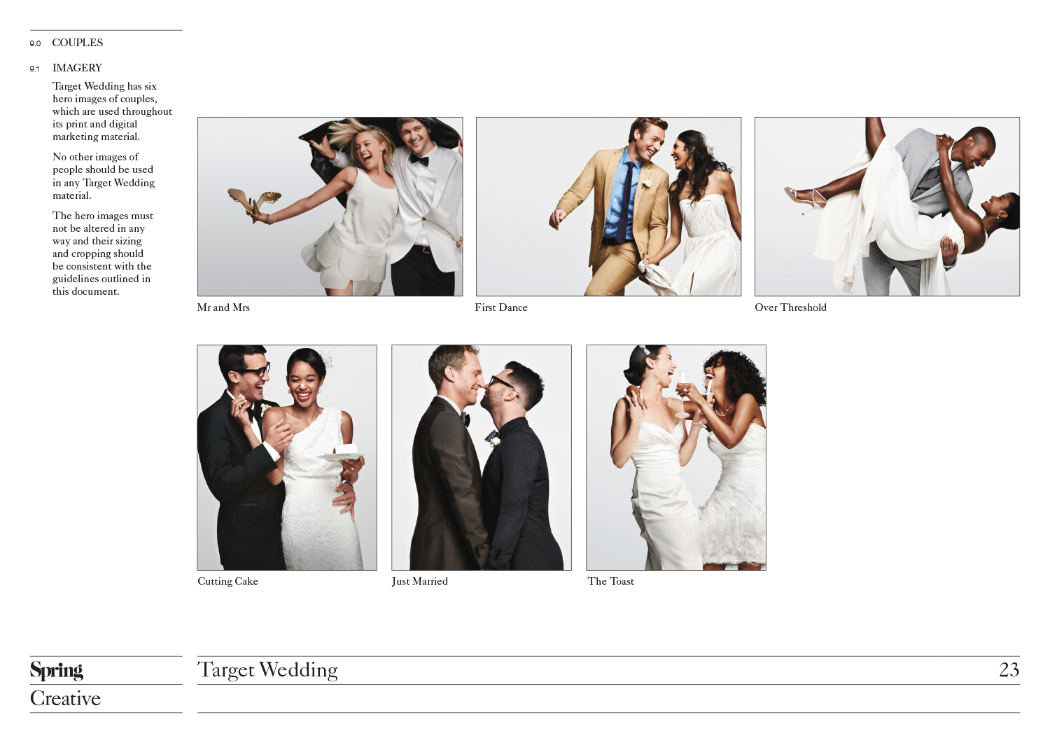 Target Wedding | Target Wedding Campaign Guidelines Nigel Parsons Design