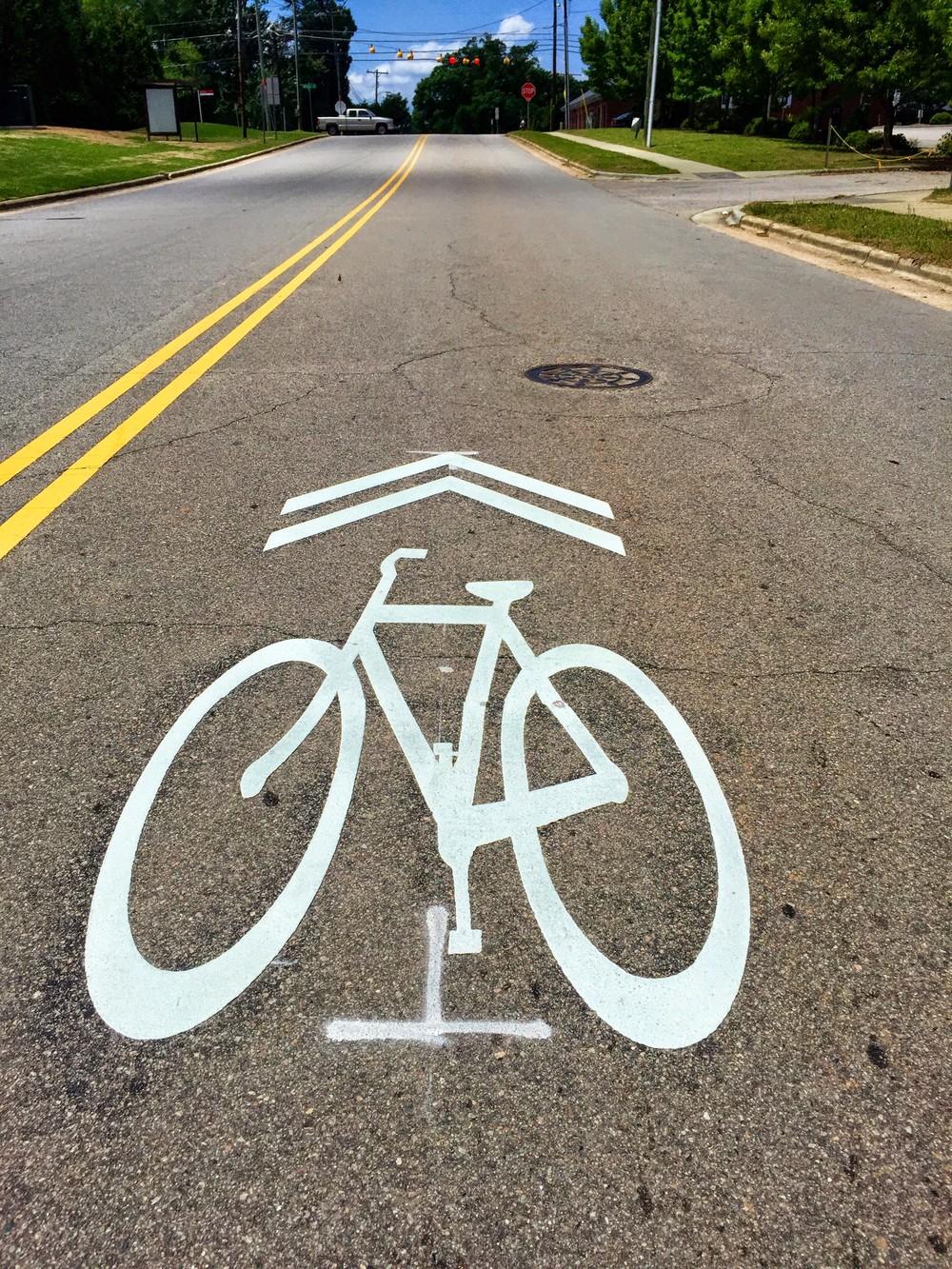 Bike Sharrow Legion Road