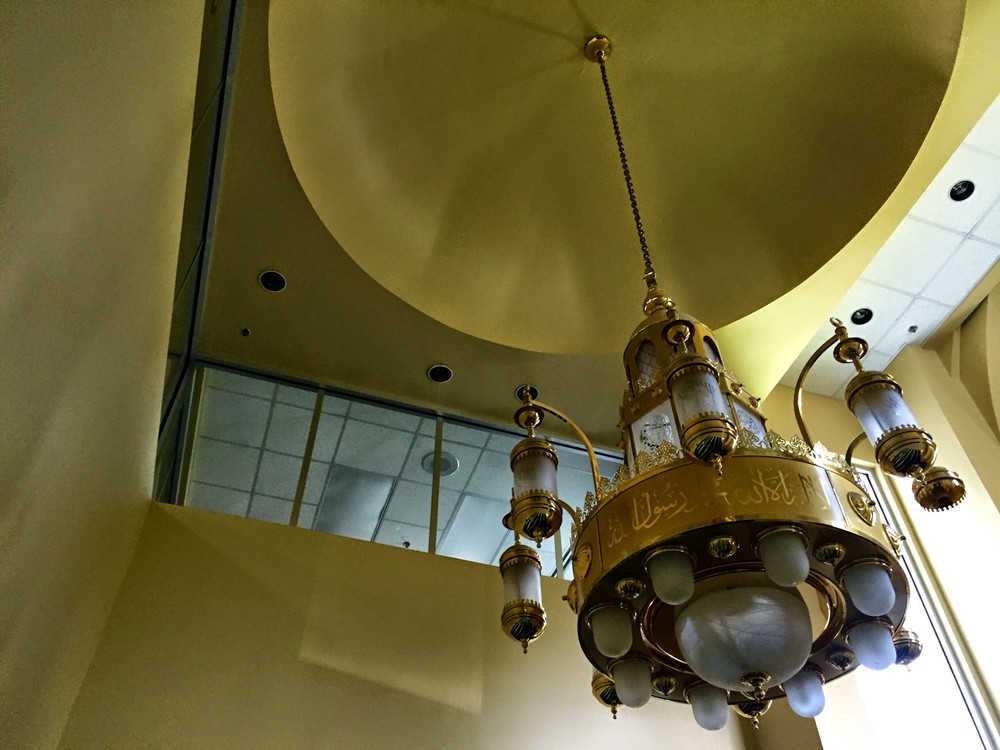 The Islamic Association of Raleigh Prayer Room Chandelier