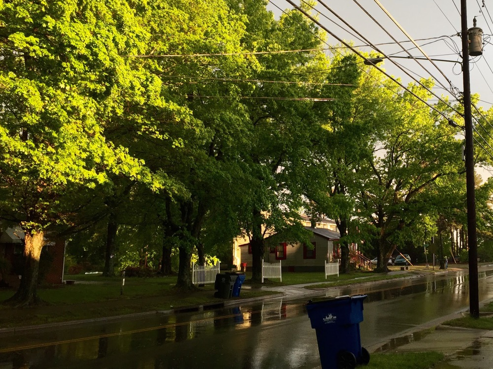 Sunset on Method after a rainstorm