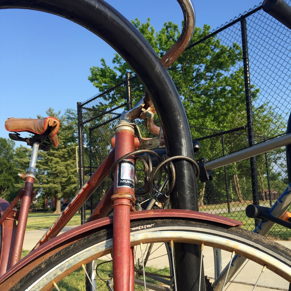 Bike near N.C. State's Athlethitc Field