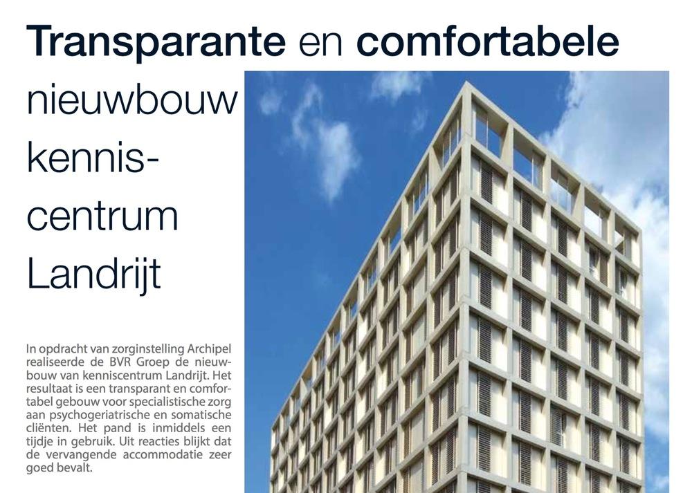 Artikel in Bouwen aan de Zorg over Landrijt in Eindhoven