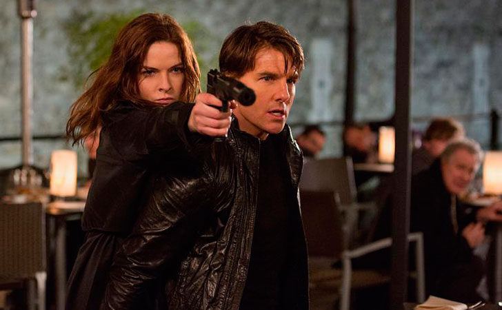 Rebecca Ferguson plays Ilsa and Tom Cruise plays Ethan Hunt in 'Mission: Impossible.'   Photo credit: Chiabella James/Paramount Pictures