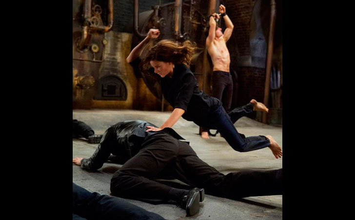 Rebecca Ferguson plays Ilsa and Tom Cruise plays Ethan Hunt in 'Mission: Impossible.'   Photo credit: David James