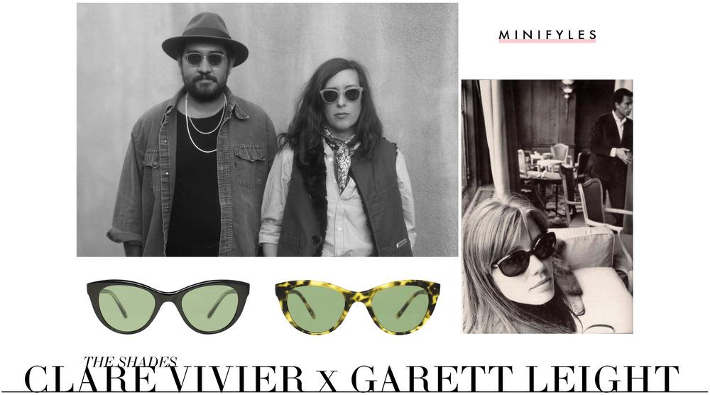 Clare Vivier x Garrett Leight Sunglasses