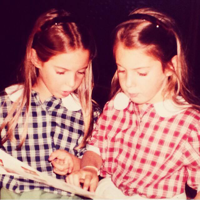 Ludovica and Ginevra Fagioli as children.