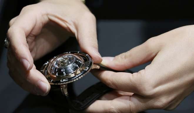The HM7 Aquapod tourbillon diving-style watch by MB&F. Photo: Reuters