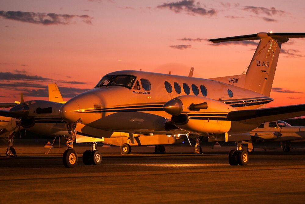 Beechcraft Kingair VH-ZXM Broome, WA