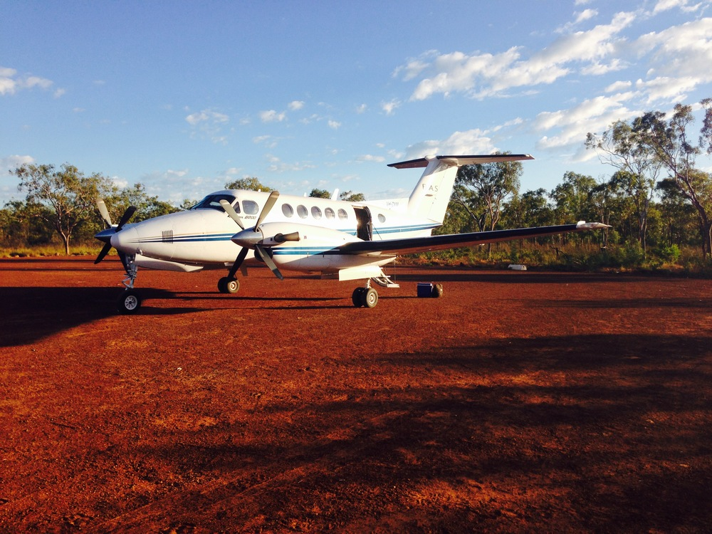 Beechcraft King Air VH-ZXM at the Berkeley River Lodge