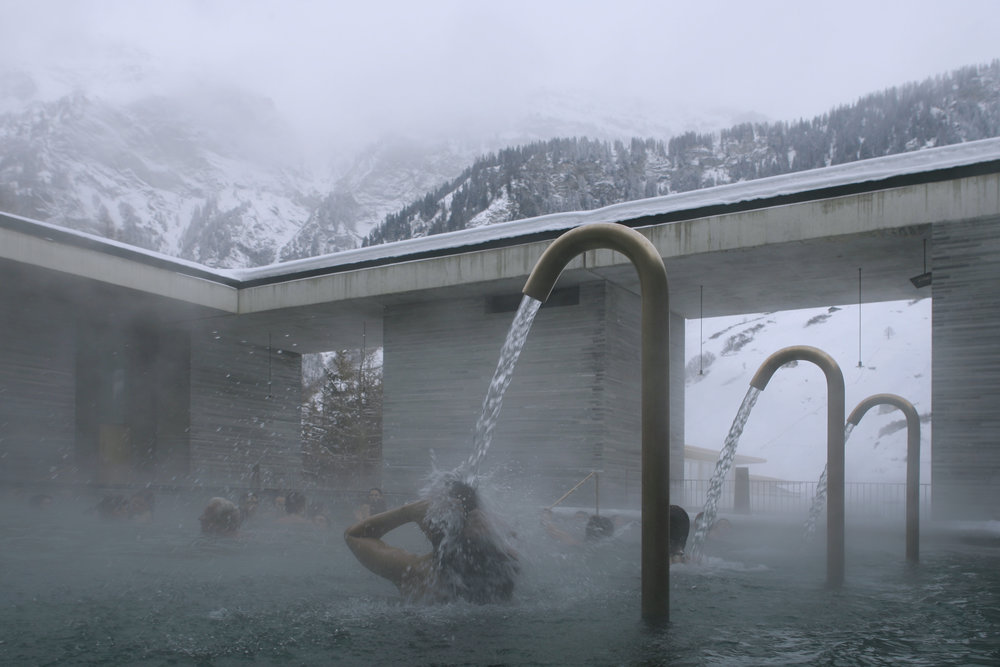 Therme Vals, Peter Zumthor. Photograph: Fernando Guerra | FG+SG ( www.ultimasreportagens.com ) Courtesy of the artists.