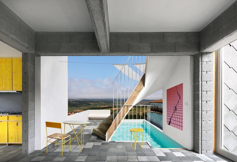 Building Stories  (photomontage). Courtesy of Garagem Sul/CCB (Centro Cultural de Belém)