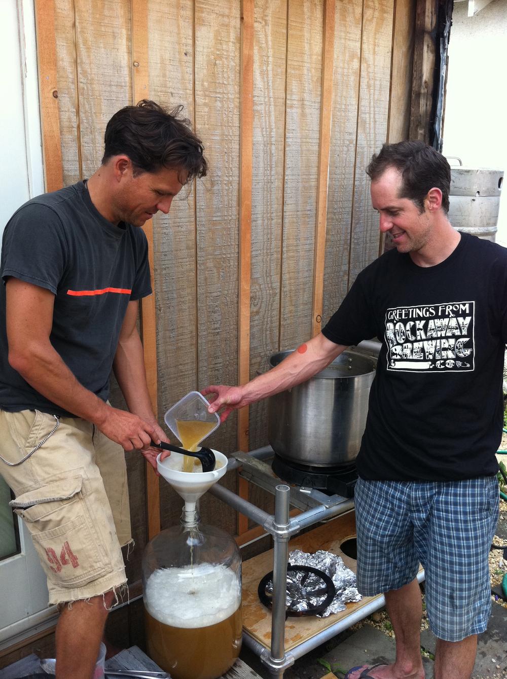 Brewing in our backyards in Rockaway.