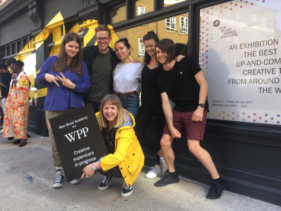 Team VML at the D&AD Pitch-off! (Left to right: Eve Sara, Jacob Grandt, ME!, Sian Macfarlane, Kristina Samsonova, Zania Mileksons [VML])