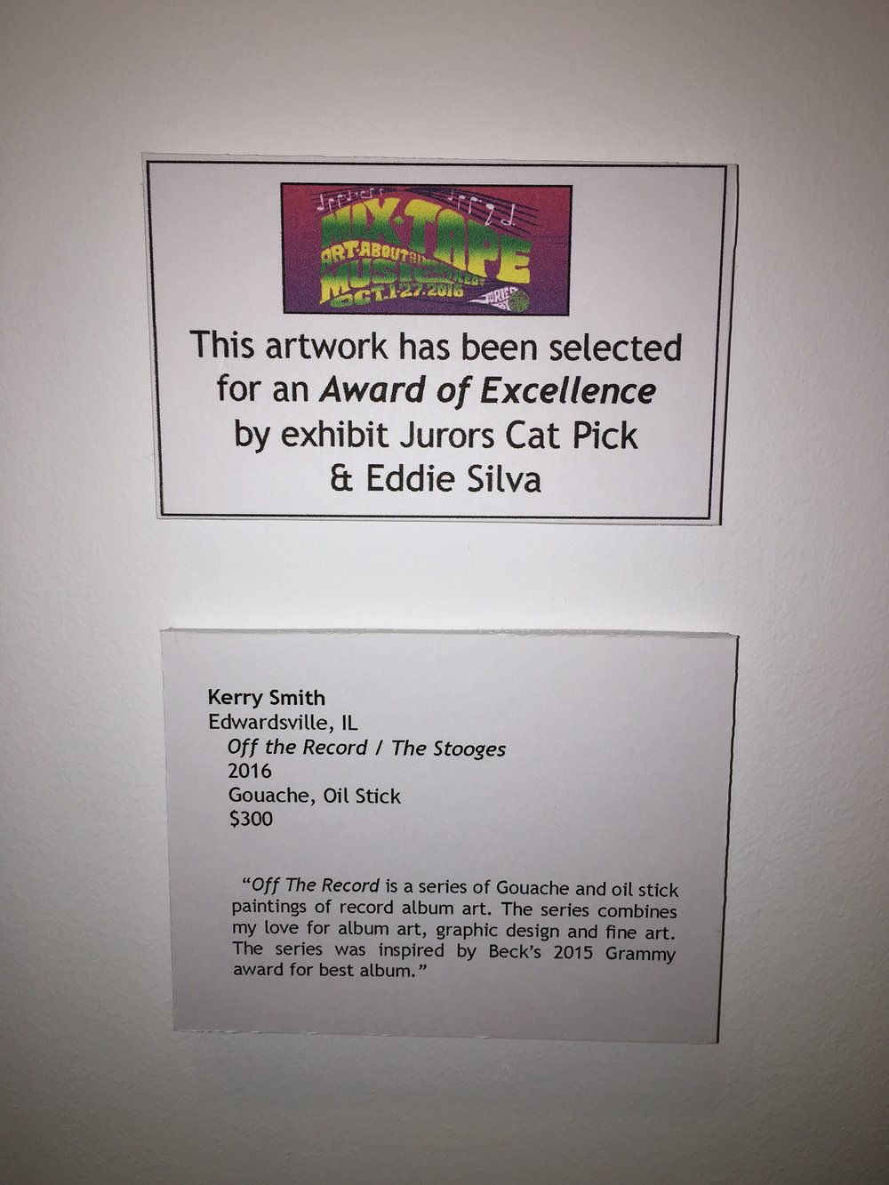 Art St. Louis - Mixed Tape Visual Exhibition (Juried) St. Louis, MO / 2016