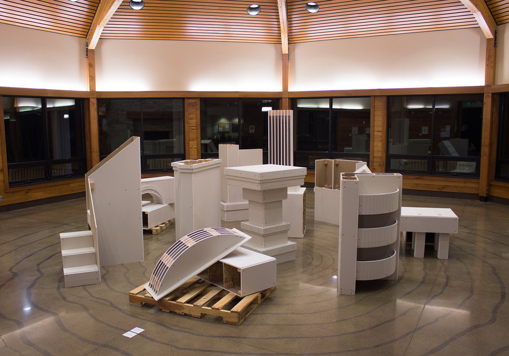 Monumental Fragments  (installation view - Silverwood Park Gallery)
