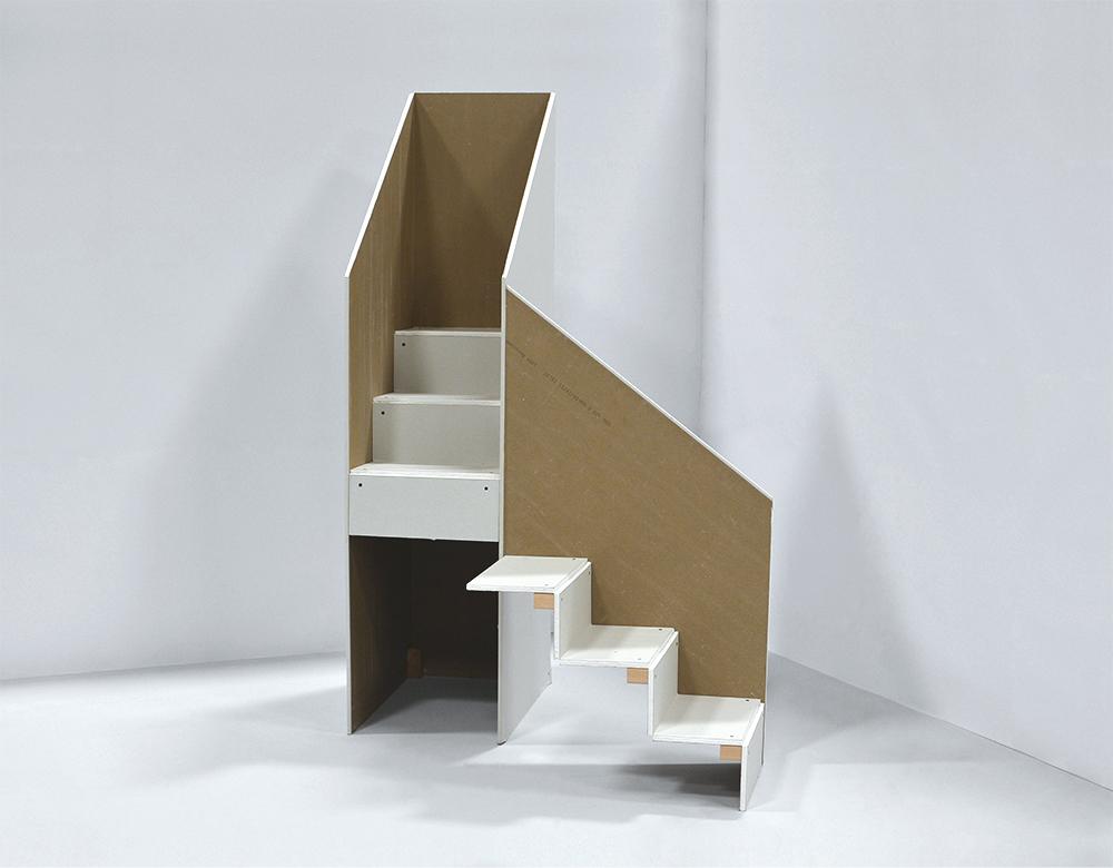 "Ascending Stairs, Washington Monument , 42"" x 65"" x 42"""