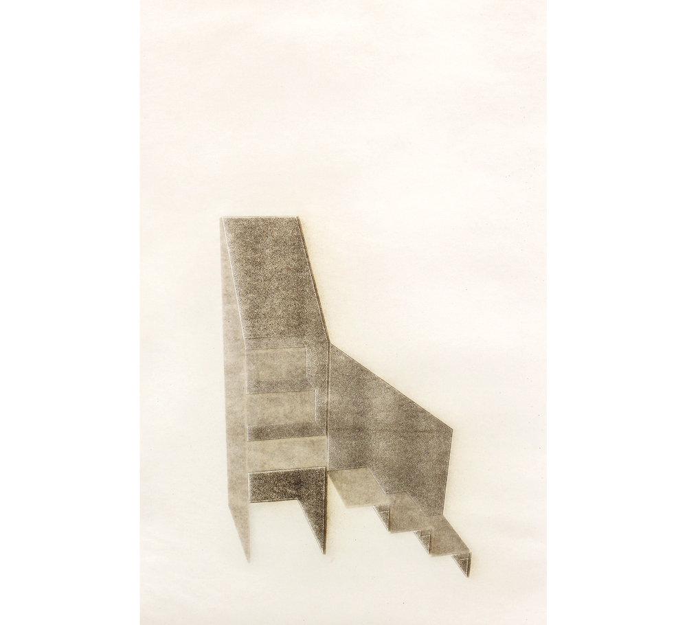 ash print ( Ascending Stairs, Washington Monument )